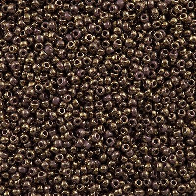 Toho Round Seed Beads 11/0 Gilded Marble Lavender 15g 11-1704