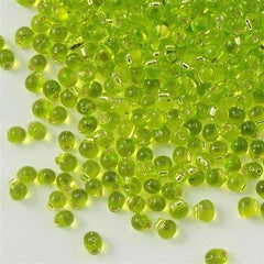 Tiny Miyuki Drop Seed Beads Silver Lined Lime Green 15g (14)