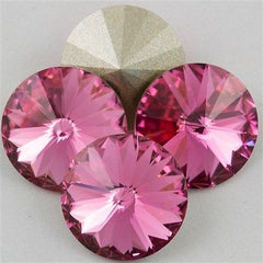 Four Swarovski Crystal 14mm 1122 Rivoli Rose (209)