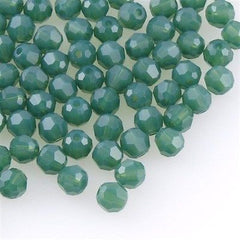 Swarovski Crystal 6mm 5000 Round Bead Palace Green Opal (393)