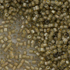 Toho Hex Seed Bead 11/0 Inside Color Lined Sand Crystal 7.2g Tube (369)