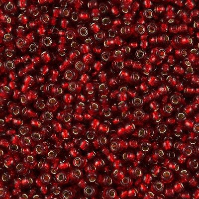 Miyuki Round Seed Bead 8/0 Silver Lined Ruby 22g Tube (11)