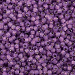 Toho Round Seed Bead 11/0 Silver Lined Milky Amethyst 19g Tube (2108)