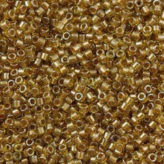 25g Miyuki Delica Seed Bead 11/0 Inside Dyed Color Amber DB909