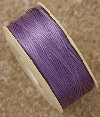 Size D Nymo Nylon Light Purple Thread 64 yard bobbin