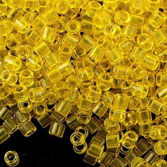 Miyuki Delica Seed Bead Transparent Yellow 5g 8/0 DBL710