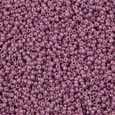 Miyuki Round Seed Bead 15/0 Opaque Dark Orchid Luster 2-inch Tube (1867)