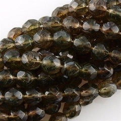 50 Czech Fire Polished 6mm Round Bead Hurricane Bayou (01320H)