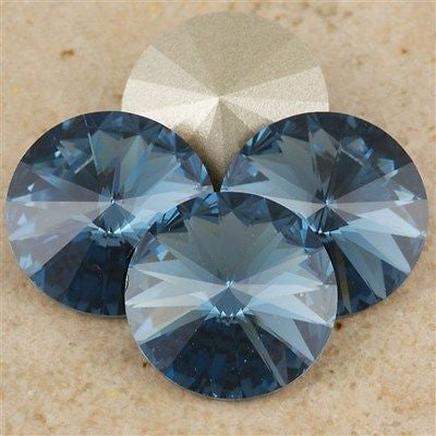 Four Swarovski Crystal 14mm 1122 Rivoli Denim Blue (266)