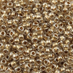 Toho Round Seed Bead 11/0 Inside Color Lined Gold 15g (989)
