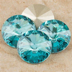 Four Swarovski Crystal 12mm 1122 Rivoli Light Turquoise (263)