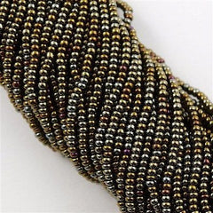 Czech Seed Bead Brown Iris 1/2 Hank 8/0 (59115)