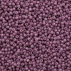 Toho Round Seed Beads 11/0 Opaque Dark Rose Marbled 15g (1202)