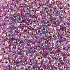 Miyuki Berry Seed Bead Inside Color Lined Raspberry AB 22g Tube (264)