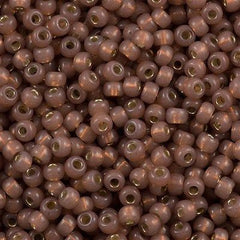Miyuki Round Seed Beads 6/0 Silver Lined Dyed Bronze 30g (641)