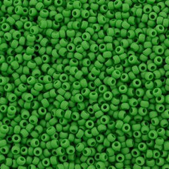 Toho Round Seed Bead 8/0 Opaque Matte Shamrock 30g (47DF)