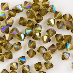 72 Preciosa Czech Crystal 6mm MC Bicone Bead Gold Beryl AB HA6-10430AB