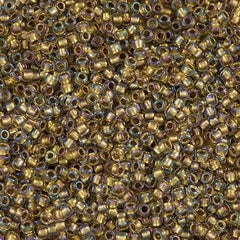 Toho Round Seed Bead 8/0 Inside Color Lined Bronze AB 30g (262)