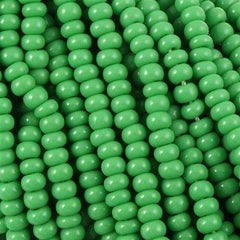 Czech Seed Bead Opaque Green 1/2 Hank 8/0 (53250)