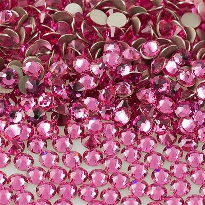 144 Swarovski Xilion Rose Flat Back SS5 2058 Rose (209)