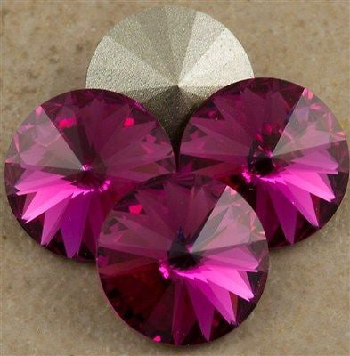 Four Swarovski Crystal 12mm 1122 Rivoli Fuchsia (502)
