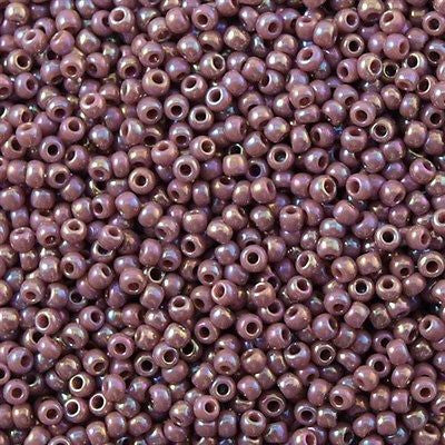 Toho Round Seed Bead 11/0 Opaque Lavender AB 19g Tube (412)