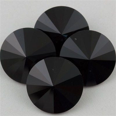 Four Swarovski Crystal 14mm 1122 Rivoli Jet (280)