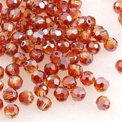 12 Swarovski Crystal 4mm Faceted Round Bead Crystal Red Magma (001 REDM)