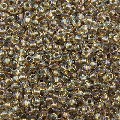 Toho Round Seed Beads 6/0 Inside Color Lined Bronze AB 5.5-inch tube (262)