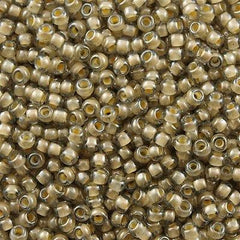 Toho Round Seed Beads 6/0 Inside Color Lined Sand Crystal 5.5-inch tube (369)