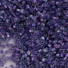 Miyuki Triangle Seed Bead 8/0 Inside Color Lined Lilac AB 15g (1138)