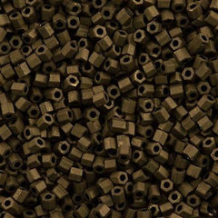 Toho Hex Seed Bead 11/0 Matte Soft Brown 7.2g Tube (702)