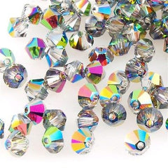 144 Swarovski 5328 Xilion 3mm Bicone Bead Medium Crystal Vitrail (001 VM)