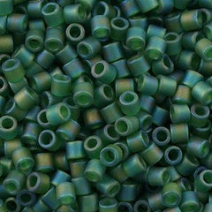 Miyuki Delica Seed Bead 8/0 Transparent Matte Green AB 6.7g Tube DBL858