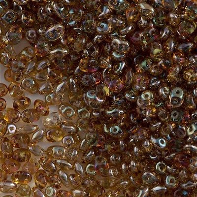 Super Duo 2x5mm Two Hole Beads Crystal Celsian 00030Z
