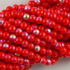 200 Czech 4mm Pressed Glass Round Beads Opaque Hyacinth AB (93400X)
