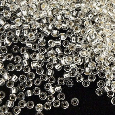 Toho Round Seed Beads 6/0 Silver Lined Transparent Crystal 30g (21)