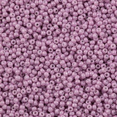Toho Round Seed Bead 11/0 Opaque Luster Rose Pink 19g Tube (127)