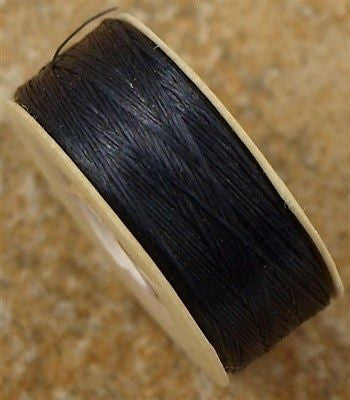 Size 0 Nymo Nylon Black Thread 115 yard bobbin