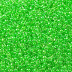 Toho Round Seed Beads 6/0 Inside Color Lined Bright Green 30g (805)