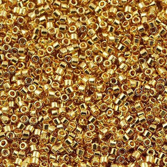 25g Miyuki Delica Seed Bead 11/0 24kt Gold Plated DB31