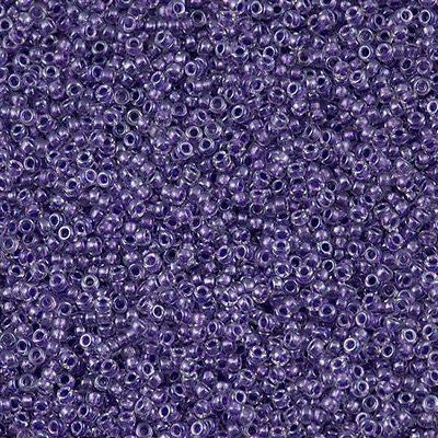 Miyuki Round Seed Bead 15/0 Inside Color Lined Sparkle Purple 2-inch Tube (1531)