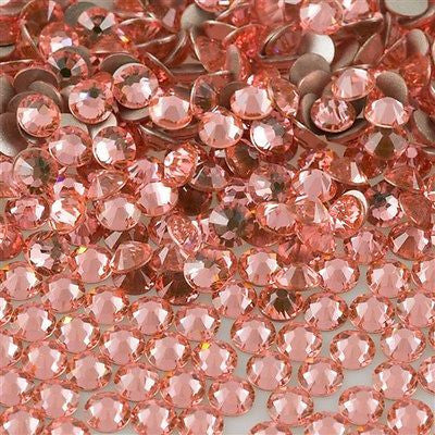 144 Swarovski Xilion Rose Flat Back SS5 2058 Rose Peach (262)