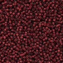 50g Toho Round Seed Bead 11/0 Silver Lined Milky Pomegranate (2113)