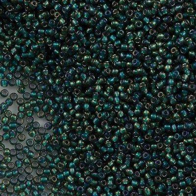 50g Toho Round Seed Bead 11/0 Inside Color Lined Forest Green (270)