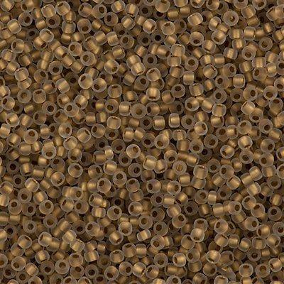 50g Toho Round Seed Bead 11/0 Inside Color Lined Matte Gold (989F)