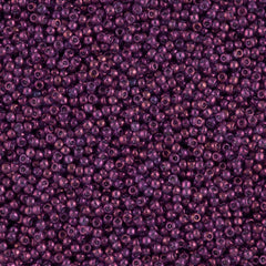 Toho Round Seed Bead 15/0 Transparent Dark Amethyst Gold Luster 2.5-inch Tube (205)