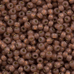 Miyuki Round Seed Bead 8/0 Silver Lined Dyed Bronze 30g (641)