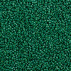 25g Miyuki Delica Seed Bead 11/0 Duracoat Dyed Opaque Spruce DB2127