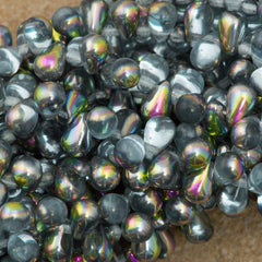 90 Czech 6x4mm Tear Drop Alexandrite Vitrail Beads (20210V)